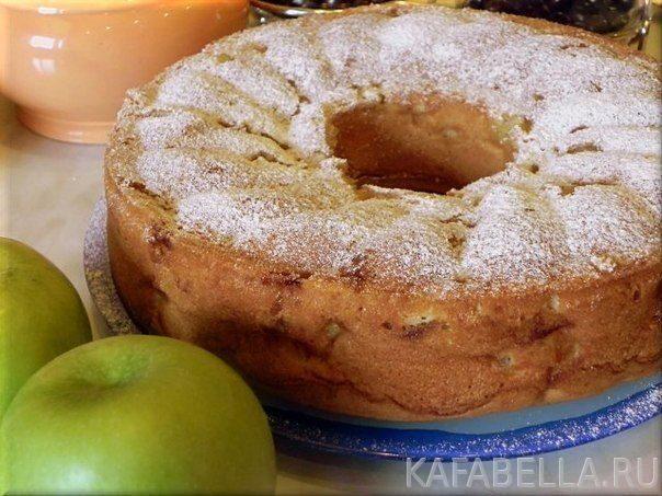 Пышная шарлотка с яблоками пошаговый рецепт